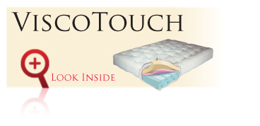 Look inside the Gold Bond ViscoTouch futon sofa sleeper mattress with memory foam