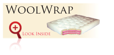 Look inside the Gold Bond WoolWrap futon sofa sleeper mattress