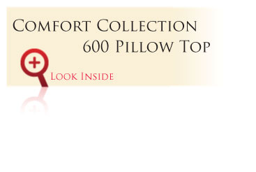 Look inside the Gold Comfort Collection 600 Pillow Top