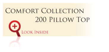 Look inside the Gold Comfort Collection 200 Pillow Top
